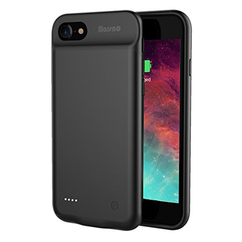 Iphone 7   8 Battery Case  Marsno 3000Mah Smart Charging Case Power Bank Case Extended Battery Pack Charger Case For Iphone 7   8  4 7 Inch  Black