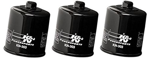 K&N Black Oil Filters (Pack of 3) 2012-13 YAMAHA XV1900 Midnight Star / KN-303
