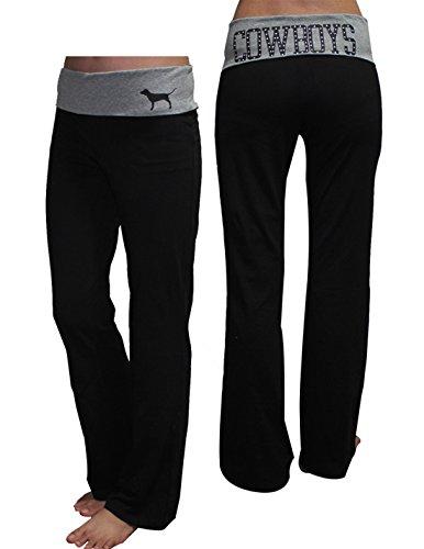 Womens NFL Dallas Cowboys Yoga Pants by Pink Victoria's Secret S Black