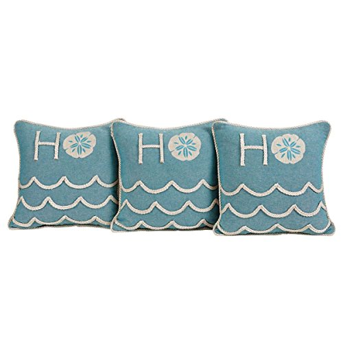 Nautical Christmas Tree (VHC Brands Christmas Holiday Pillows & Throws - Sanbourne Blue 12