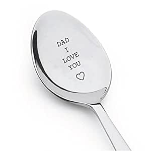 Dad I Love You Engraved Spoon,dads ice cream spoon,best selling items,gifts for dad,funny gift for dad,dad gifts,new dad,daddy gifts,daddy gifts from son