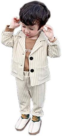 (タコ)男の子 ストライプ スーツ 2点セット 長袖 ジャケット ズボン フォーマル ボーイズ キッズ ジュニア 入園式 卒園式 発表会 卒業式 結婚式 春秋冬