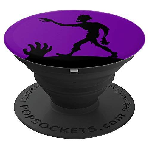 Cute Halloween Zombie - Purple Background - PopSockets Grip and Stand for Phones and Tablets