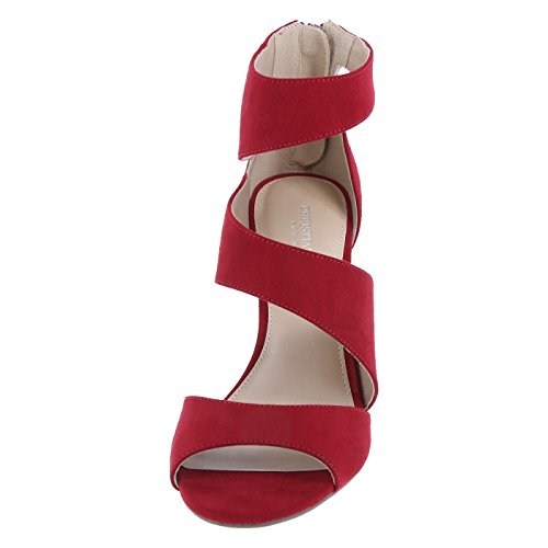 Lily Christian Womens for Asymmetrical Payless Pump Siriano Suede Red fwwIrnqAF