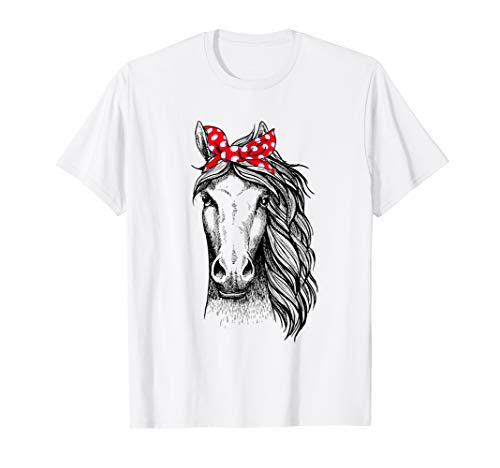 (Horse Bandana T Shirt for Horseback Riding Horse)