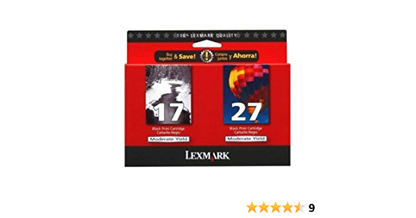 Twin Pack #17//#27 Black and Color Moderate Use Print Cartridges