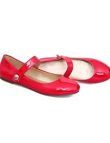 PDX/ Damenschuhe - Ballerinas - Büro / Kleid / Lässig - Lackleder - Flacher Absatz - Ballerina - Schwarz / Grün / Rot / Mandelfarben , red-us9 / eu40 / uk7 / cn41 , red-us9 / eu40 / uk7 / cn41