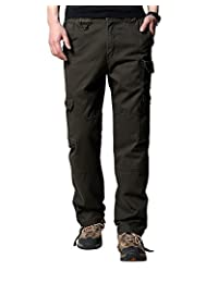 Men's Outdoor Insulated Canvas Utility Cargo Pant