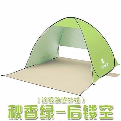 zhudj Plage schattierung Tente, Outdoor rapide ouverture automatique,  protection solaire Pêche Tente, simple double Tente Vert olive e7b0241b041b