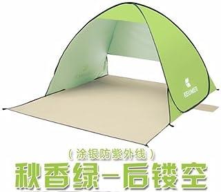 zhudj Plage schattierung Tente, Outdoor rapide ouverture automatique, protection solaire Pêche Tente, simple double Tente Vert olive