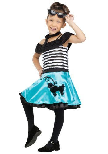 Fun World Costumes Baby Girl's At The Hop Honey Toddler Costume, Black/White, Small