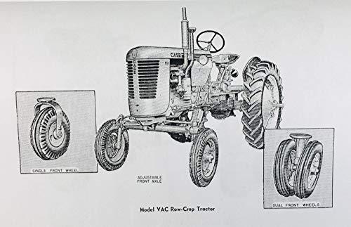 Amazon.com: J I Case Va Tractors Vac Vao Vas Vah Operators Owners Manuals Rac 53 6Th: Home Improvement