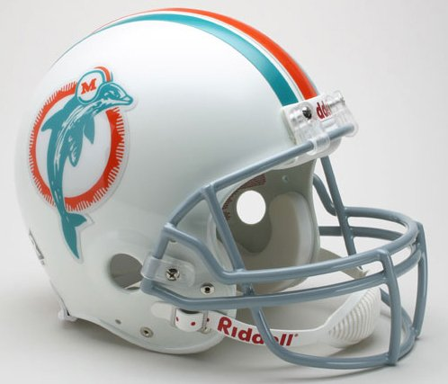 (Miami Dolphins Helmet Riddell Authentic Full Size VSR4 Style 1973-1979 Throwback)