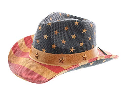 45e57555ada99 Milani Kids Vintage Style Stars and Stripes American Flag Patriotic Cowboy  Hat