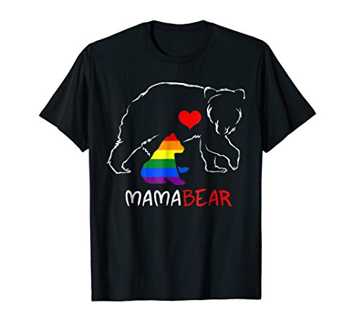 LGBT Mom Mama Bear Shirts Mothers Gift Rainbow Shirt
