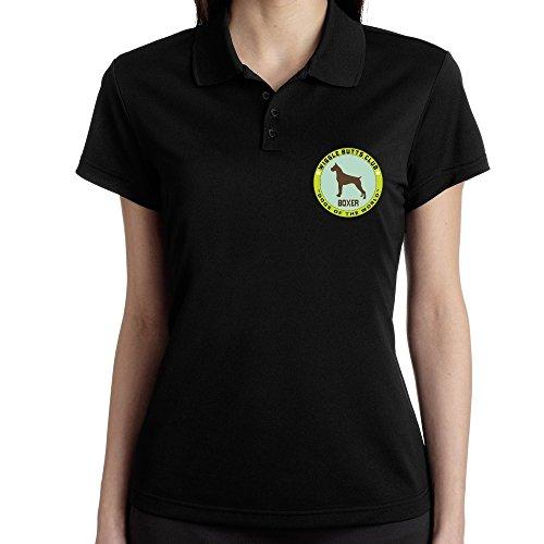 Teeburon Boxer WIGGLE BUTTS CLUB Polo Donna