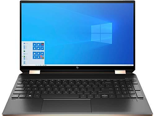 "Latest 2020 HP Spectre x360 2-in-1 15t Laptop 15.6"" 4K UHD Touch-Screen 10Th Gen i7-10510U GeForce MX 330 2 GB Active Pen 512GB PCIe NVMe SSD 16GB RAM Win 10 Eng Keyboard Nightfall Black"