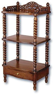 Laurel Crown Victorian Whatnot Shelves