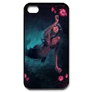 Iphone 4,4S Little mermaid Phone Back Case Use Your Own Photo Art Print Design Hard Shell Protection YT038886