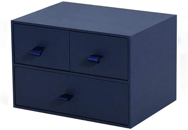 GGJIN portátil archivador mesa de estudio cuadro de tipo cajón de vaca de cartón, caja de