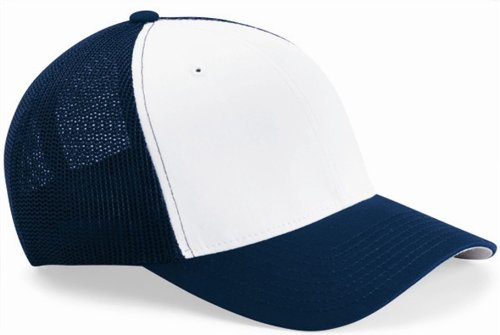 9fc2def6 Image Unavailable. Image not available for. Colour: Flexfit Trucker Cap.  6511 - Navy / White ...
