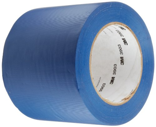 3M 3903 Vinyl Duct Tape Roll - 4 in. x 150 ft. Blue, Moisture, Chemical Resistant, Rubber Adhesive Tape with Embossed Vinyl Backing.