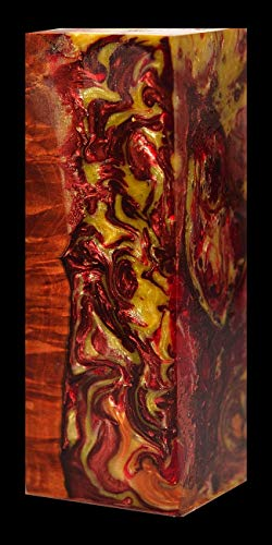 Cone stabilized Resin cast for Knife Handle Scales or Box mod