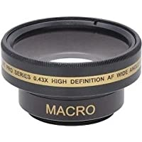 Wide Lens for Sony HDRCX360, Sony HDRCX360V, Sony HDR-PJ30, Sony HDR-CX350V, Sony HDR-CX350VE, Sony DCR-DVD109