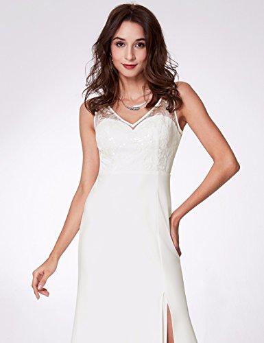 Weiß Ever Vneck Damen 07233 Frauen Ärmellose Kleider Pretty Elegante rarqwt8g