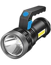 chiwanji LED spot lamba, USB ile şarj edilebilir, 2000 m'ye kadar yürüyüşler için