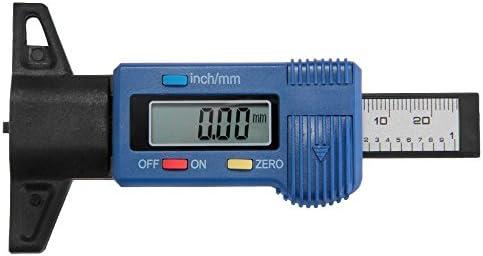 Crazo LCD Digital Profiltiefenmesser Profiltiefenmessung Reifenprofil Messer