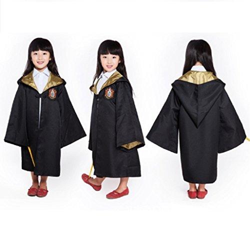 Hufflepuff Robe Costumes (HP2 Harry Potter Costume Kids Robe 4 HOUSES S-XXL (XXL (155), Hufflepuff: Yellow))