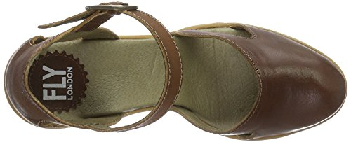 Brown London Tan Women's Hoba931fly 001 Wedge Shoes Fly qOx6Xwvw