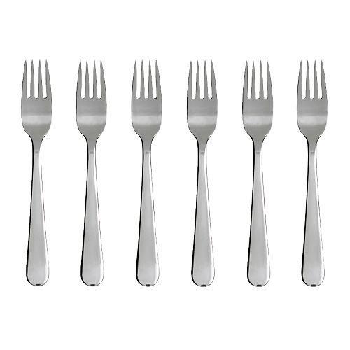 6 DRAGON Salad / dessert fork stainless steel pack
