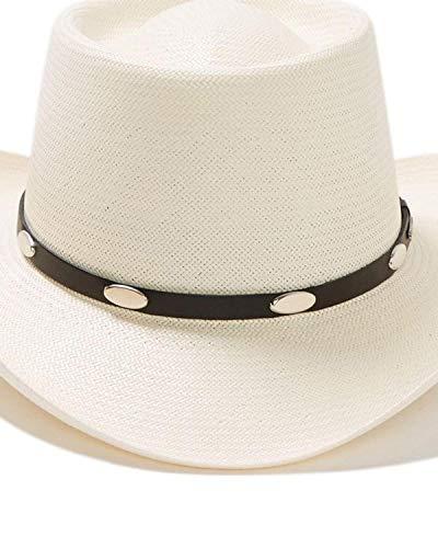 Stetson Men's Royal Flush 10X Shantung Straw Cowboy Hat Natural 7 (Crown Royal Cap)
