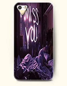 iPhone 4 / 4s Case I Miss You - Night - Hard Back Plastic Case - OOFIT Authentic