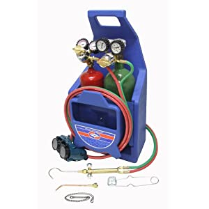 Uniweld K22P-T Cap n Hook Braze and Weld Outfit with 511 Plastic Carrying Stand and Tanks