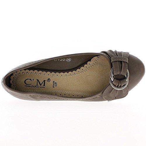 0 taupe cm heel Ballerina 5 qEPXPv