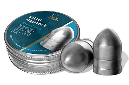 Haendler & Natermann H&N Rabbit Magnum II Airgun Pellets, Powerful, Versatile & Super Accurate for Hunting.22 Caliber, 25.31 Grains (200 Count)