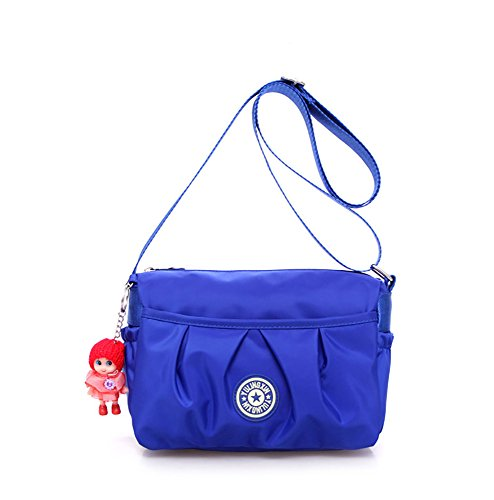 Multi Purple Travel Pockets Strap handbags Shoulder Bags Purse Waterproof Womens Ladies Blue Shoulder Adjustable Cross Bags Nylon Shoulder Bag Handbag Small body pn6aqR