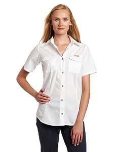 Columbia Women's Bonehead Short Sleeve Fishing Shirt (White, Medium)