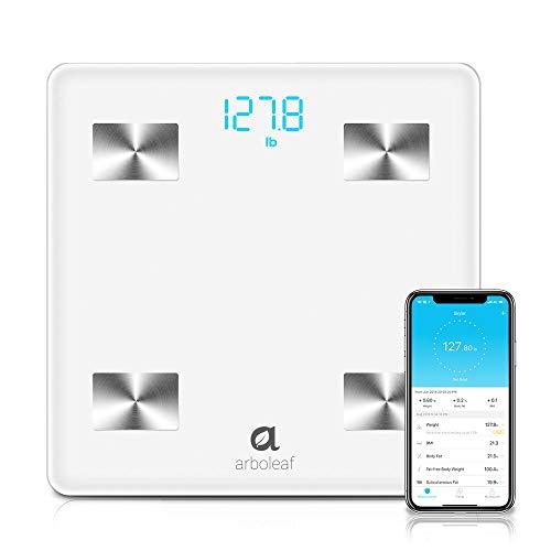 Arboleaf Digital Scale, Bluetooth Smart Scale Bathroom Weight Scale, Body Fat Monitor, 10 Key Composition, iOS Android…