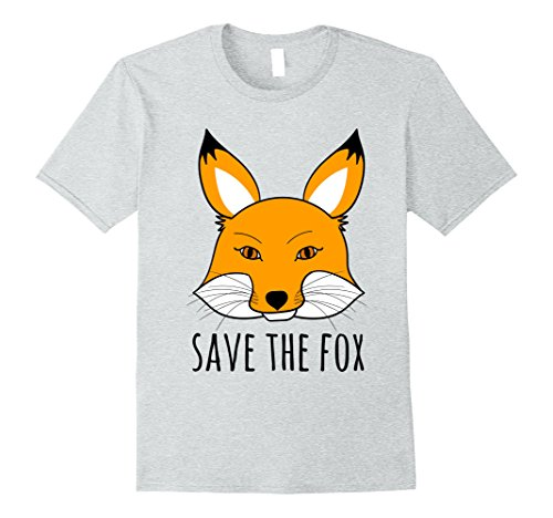 Mens SAVE THE FOX T-Shirt | Animal rights Shirt XL Heather (Men's Rights Activist Halloween Costume)