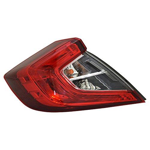 - TYC 11-6878-00-1 Honda Civic Replacement Tail Lamp