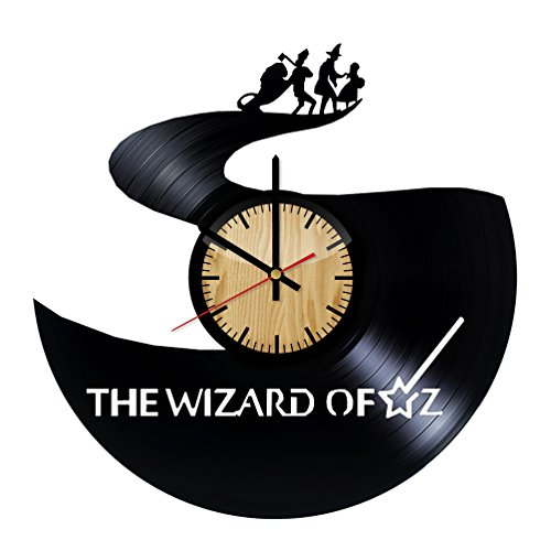 The Wizard of Oz Road Vinyl Wall Clock – Handmade Gift for any Occasion – Unique Birthday, Wedding, Anniversary, Wall Décor Ideas for any Space ()