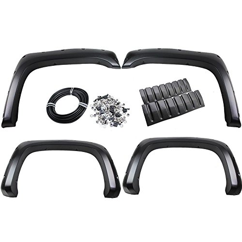 Tdogs 4x Front Rear Fender Flares Set Inner Fender Mud Guard Replacement for 07-13 Chevrolet Silverado 1500