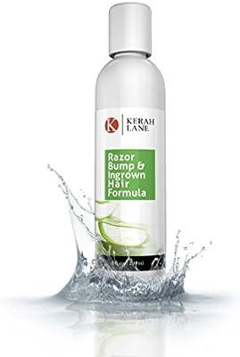 Kerah Lane Organic Razor Bump & Ingrown Hair Formula 8 Oz for Women & Men: Best Treatment Serum for Ingrown Hairs, Acne, Razor Bumps, Razor Burn: Use ...