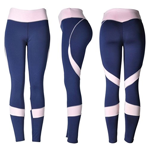 Quartly Yoga Pants, Womens Skinny High Waist Workout Fitness Sports Gym Running Yoga Leggings Athletic Pants
