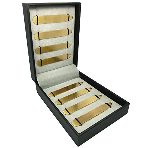 Shang Zun 8 pcs Yellow Brass Collar Bones in Gift Box, 2.5