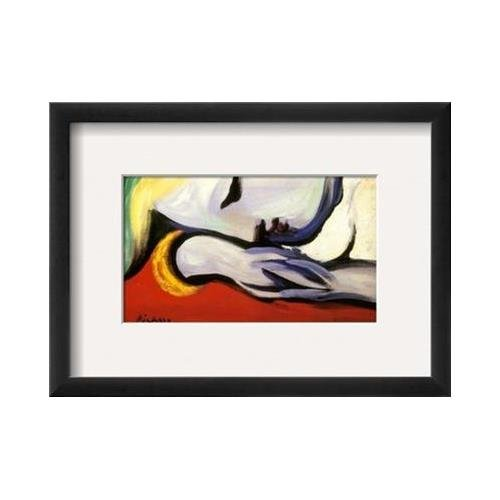 Buyartforless Framed at Rest Framed by Pablo Picasso 15x11 Art Print Poster Resting Woman